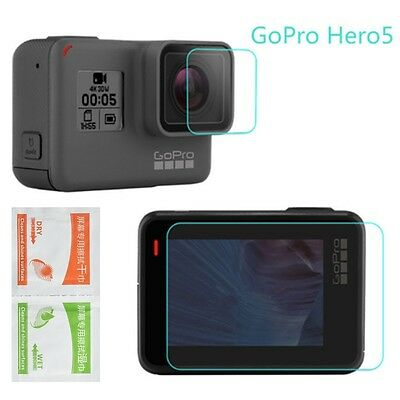 For Gopro Hero 5 Camera Accessories Lens&Screen Protector Protective Film Set