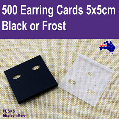 Jewellery Card EARRING Tag | 200pcs 5x5cm | PLAIN Plastic RELIABLE | AUS Stock