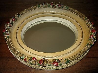 Vintage Shabby French Country English Cottage Chic Barbola Mirror