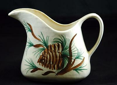 Vintage Blue Ridge Pottery Pitcher Cash Family Erwin, Tenn. Pine Cone Design