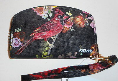 Red Cardinal Bird Hand Painted mini Wallet for Women