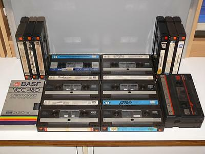 Collection of 15 Video 2000 / V2000 Cassettes ~ Various Movies/Blanks ~ Pre-Cert