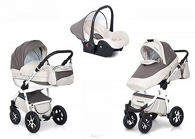 EXPANDER MONDO ECCO PRAM 3in1   CARRYCOT + PUSH CHAIR + CAR SEAT