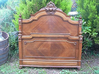 Super Antique French Lovey Carved Walnut Double Bed Dw429Jl