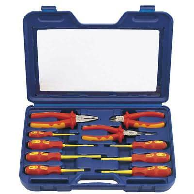 Draper Expert Fully Insulated Electricians VDE Pliers and Screwdriver Set 10 Pce