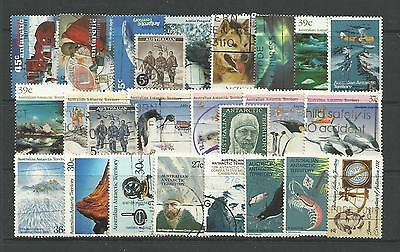 AUSTRALIAN ANTARCTIC AAT STAMP COLLECTION PACKET of 25 DIFFERENT Stamps USED