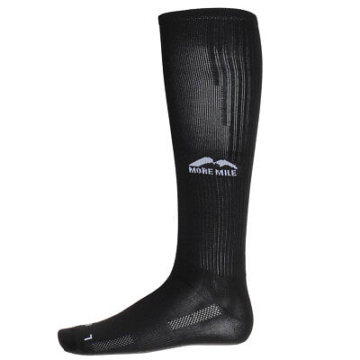 Mens, Womens More Mile California Black Long Sports Compression Socks