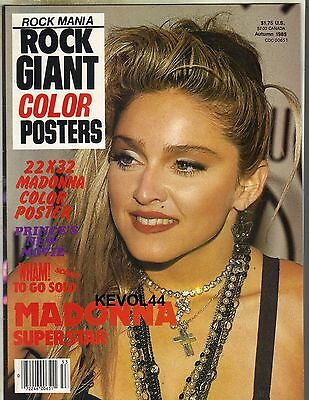 MADONNA Rock Mania GIANT 22X32 COLOR POSTERS 1985 GEORGE MICHAEL WHAM PINUP PC