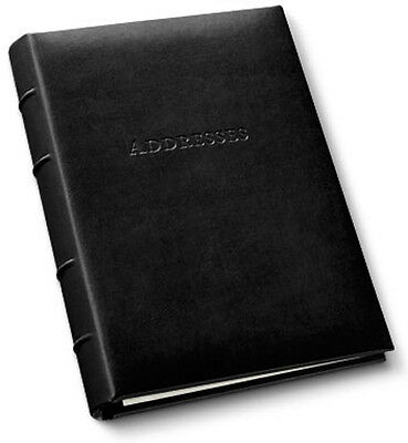Gallery Leather Desk Address Book Acadia Leather - Black