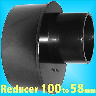 Reducer 100mm to 58mm for Dust Extraction Hose Charnwood SIP Record extractor