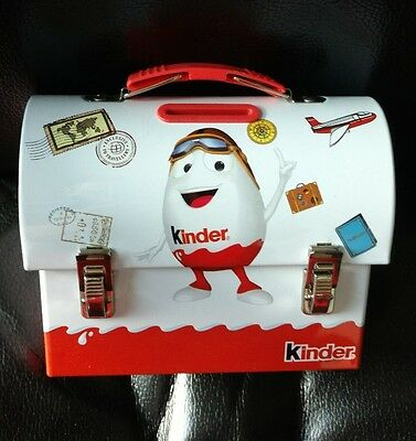 Kinder Chocolate Tin Box Coin Bank Lunch Choco Box Money Mascot Man Guy Travel