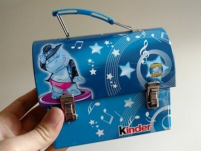 Kinder Chocolate Tin Box Lunch Choco Box Happy Hippo Surprise Storage Nice