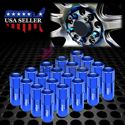 Blue 20 PCS M12X1.25 Lug Nuts Extended Tuner Aluminum Wheels Rims Cap WN02