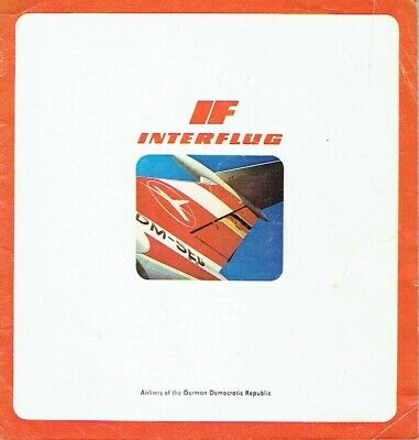 Interflug IF Airlines of the GDR brochure um 1975 IL 62 TU 134 IL 18