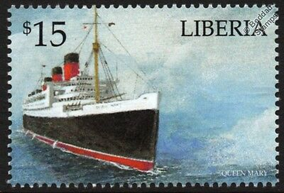 RMS QUEEN MARY Cunard Line Ocean Liner / Passenger Cruise Ship Stamp