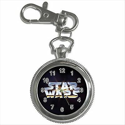 NEW* HOT STAR WARS Silver Tone Key Chain Ring Watch Gift