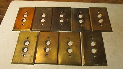 1 Antique Brass Push Button Light Switch Plate