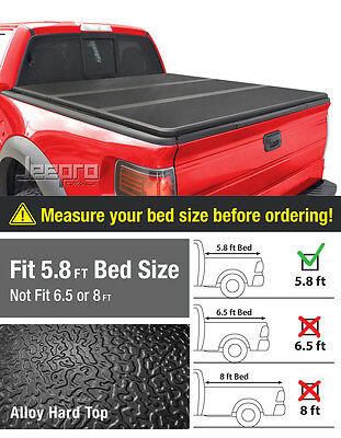 Alloy Hard TriFold Tonneau Cover Fits 14-17 Silverado Sierra 5.8ft/69.6in Bed