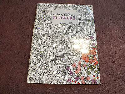 Leisure Arts Adult Coloring Book 24 Pages to Color Flowers Unused NICE