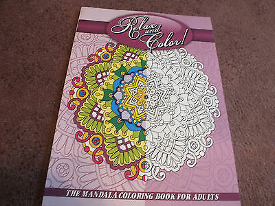 Lilt Adult Coloring Book 21 Pages to Color Mandalas Unused NICE