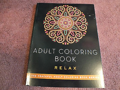 """Skyhorse Adult Coloring Book 48 Pages to Color """"Relax"""" Unused NICE"""
