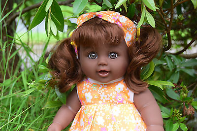 """Afro African Black Interactive Doll 12"""" Lovely Samantha Girl Doll 30Cm"""