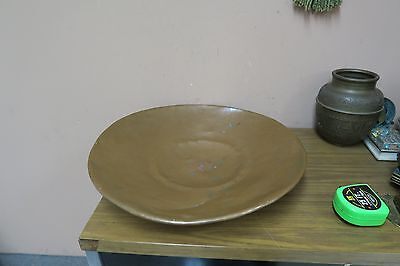 Vintage Hammered Copper Plate Tray 18""