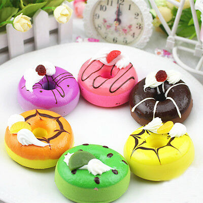 High Simulation Fruit For Donuts Fake Food Toy Gift Decor Early Education Kid