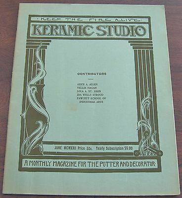 Keramic Studio Magazine June 1922 NY Society of Ceramic Art Complete w Insert