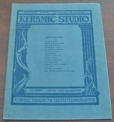 Keramic Studio Magazine Nov 1922 Glass Enamel Decoration Complete w Insert