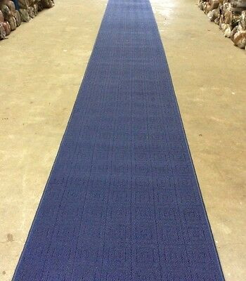 Hall Way Runner Hall Runner Rug Modern Blue 5 Metres Long FREE DELIVERY
