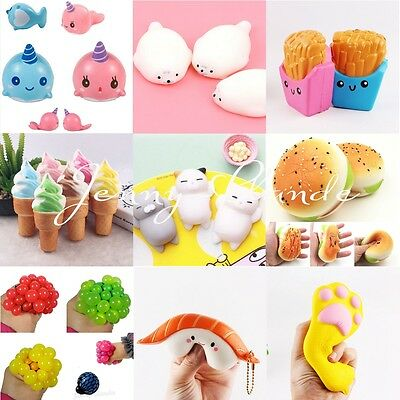11Style Cute Simulation Squishy Slow Rising Squeeze Anti-stress Toy Phone Straps
