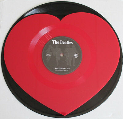 "The Beatles ‎– Love Me Do on Red 7"" Heart Shaped Vinyl Single NEW RRP $24.95"