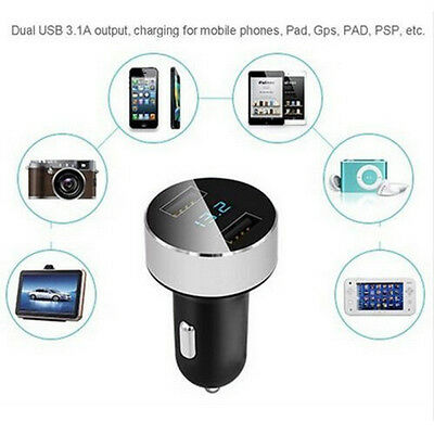 5V 3.1A Car Charger Quick Charge Dual USB Port Cigarette Lighter Adapter Voltage