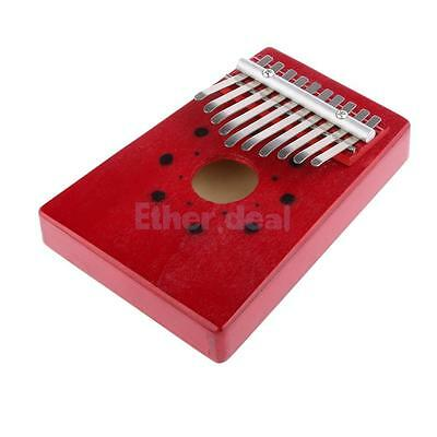 10Keys Red Finger Thumb Klavier Mbira gut poliert Instrument für Musik