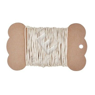 10M 1mm Waxed Cotton Cord Jewellery Thong Thread String DIY Beading Craft Beige