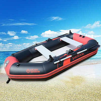 Kayak Outdoor Fishing Inflatable Boat 2-3 Person Canoe Raft Oars Foot Pump PVC