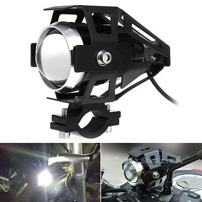 125W U5 Motorcycle Motorbike Headlight Cree LED Fog Spot Lights Bulb & Switch