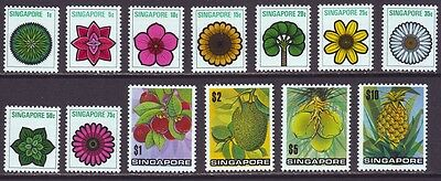 Singapore 1973 SC 189-201 MNH Set Flower Fruit