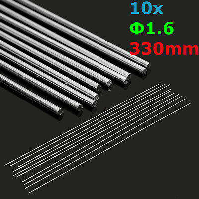 10Pcs 1.6mm Aluminum Alloy Silver TIG Filler Rods Welding Brazing Wire Tools