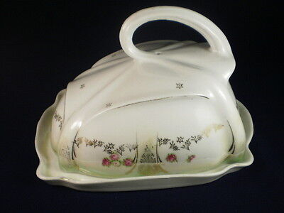 Vintage Butter Dish & Cover (Chip)