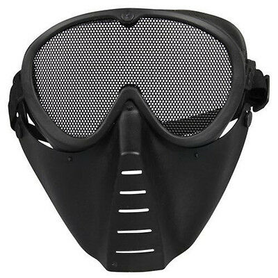 Neu Paintball Airsoft Softair Tactical Maske Schutzmaske Mask Alien Schwarz