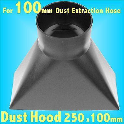 Y Shaped Dust Hood for 100mm Dust Extraction Hose Charnwood SIP Record extractor