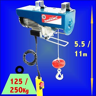250kg Electric Hoist 500w Winch Lifting Scaffold crane block ratchet garage lift