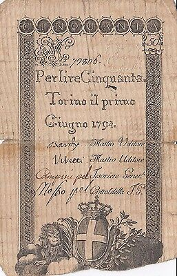 50 Lire From Italy 1794