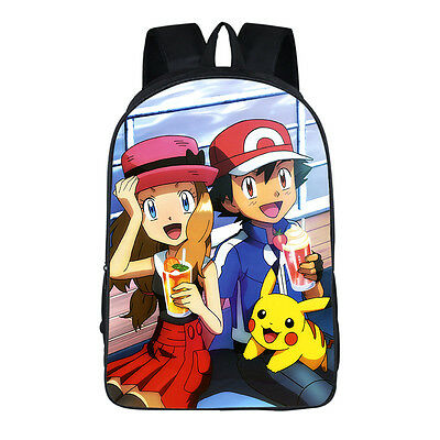 Neu POKEMON Pikachu Dawn Ash Ketchum Rucksack Backbag Backpack Bag 42x29x16CM