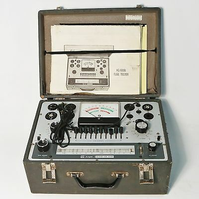 Vintage Knight-Kit KG-600B Tube Tester, Assembly Manual, & Operation Manual