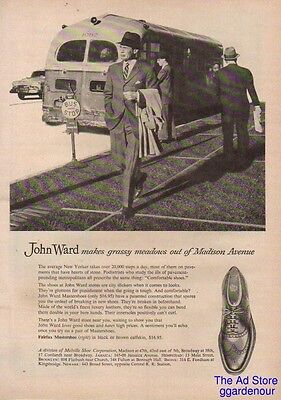 1954 Melville Shoe Corp John Ward Makes Grassy Meadows Out of Madison Avenue Ad