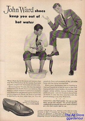 1954 Melville Shoe Corp John Ward Shoes Keep You Out of Hot Water Vintage 50s Ad