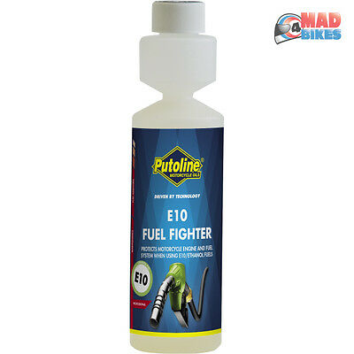 Putoline E10 Motorcycle Fuel Additive Enzyme Treatment 250ml Petrol Stabilizer
